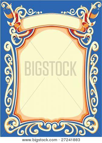 Ornate background or label