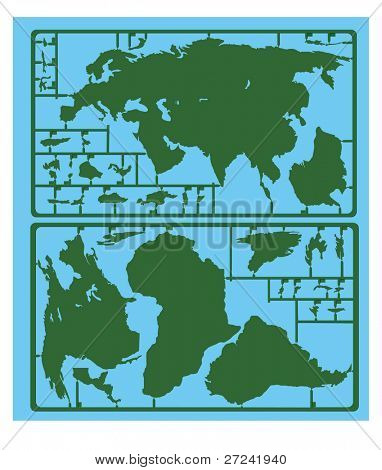 Major countries of the world in a plastic kit form