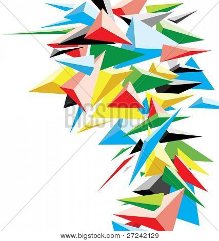 abstract spiky background