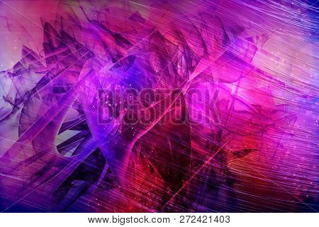Artistic Abstract Dramatic Artwork On A Multicolored Dramatic Abstract Background