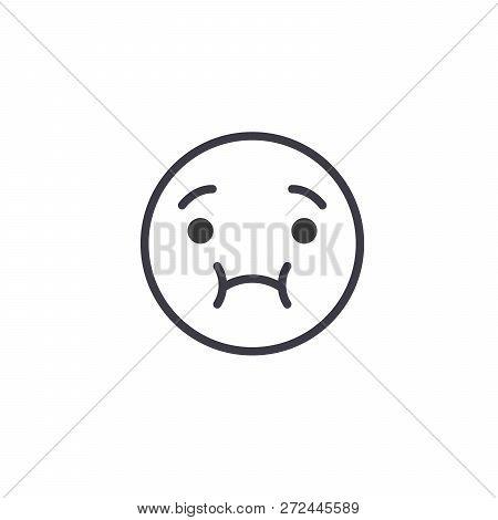 Feeling Sick Emoji Concept Line Editable Vector, Concept Icon. Feeling Sick Emoji Concept Linear Emo