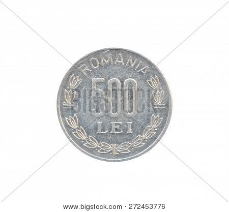 Vintage 500 Lei Coin Made By Romania, That Shows Numeral Value