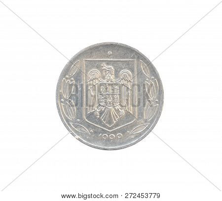 Vintage 500 Lei Coin Made By Romania, That Shows Coat Of Arms
