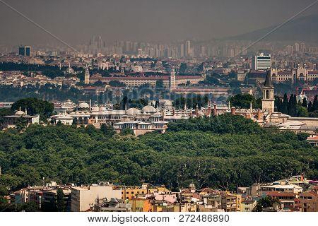 Istanbul, Turkey - Jun 5, 2008: Birdeye View Of Istanbul, Eminonu