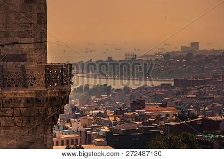 Birdeye View Of Istanbul, Karakoy And Eminonu
