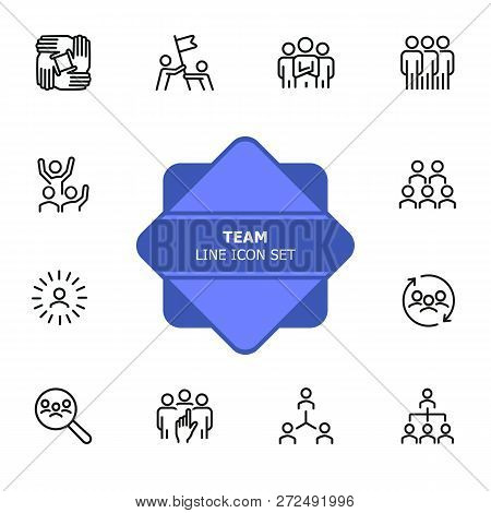 Team Line Icon Set. Staff, Success, Personnel Selection. Teamwork Concept. Can Be Used For Topics Li