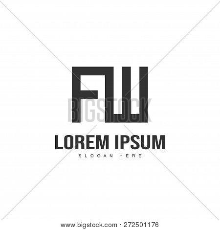 Initial Letter Logo Design. Minimalist Letter Logo Template