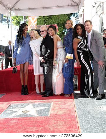 LOS ANGELES - DEC 4:  Dominique Jackson,  Light, Ryan Murphy, Indya Moore, Leakes,  Bassett, Peter Krause at the Ryan Murphy Star Ceremony on the Hollywood WOF on December 4, 2018 in Los Angeles. CA