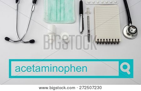 Search in the acetominophen network, conceptual image poster