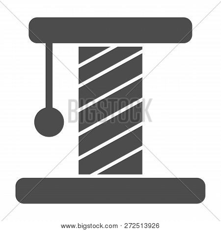Cat Scratcher Solid Icon. Pet Toy Vector Illustration Isolated On White. Kitten Scratcher Glyph Styl