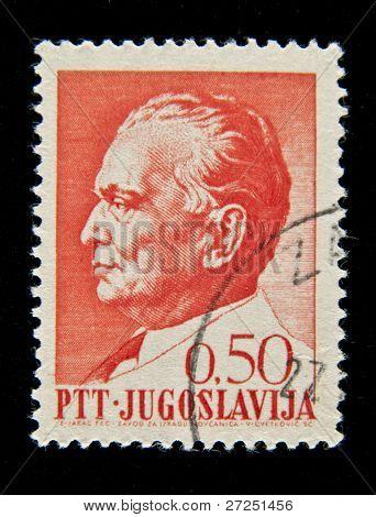 YUGOSLAVIA - CIRCA 1980s: A stamp printed in Yugoslavia shows Josip Broz Tito, circa 1980s
