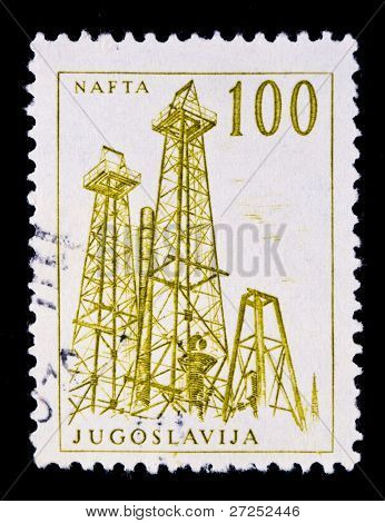 YUGOSLAVIA - CIRCA 1994: A stamp printed in the Federal Republic of Yugoslavia shows image celebrating the NAFTA (North American Free Trade Agreement) treaty, series, circa 1994