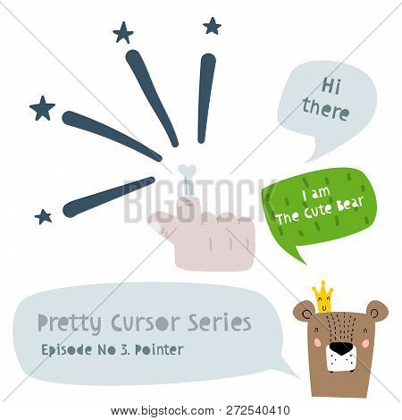 Series Of Cute Funny Cursors Or Pointers For Children