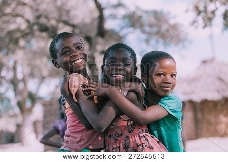 Dirty And Poor Namibian Children