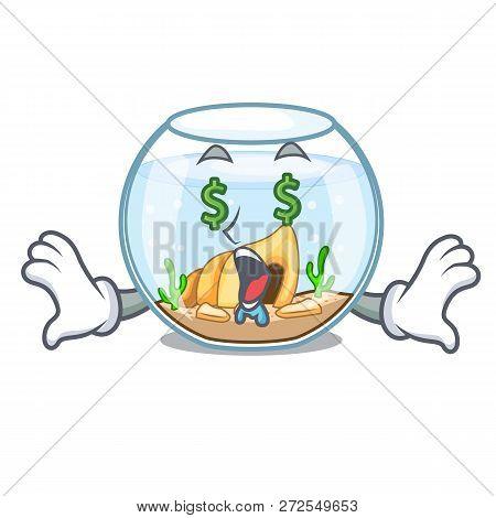 Money Eye Fishbowl In A Funny On Cartoon