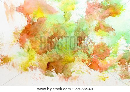 yellow, red and green watercolor background