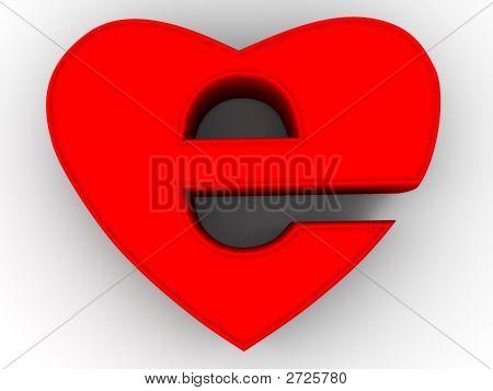 Symbol Of Internet As Heart