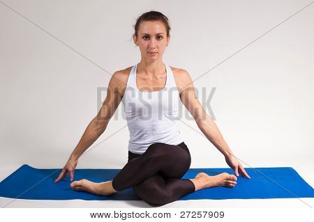 yoga girl doing exercise. 83 of 116 poster