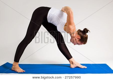yogi girl doing exercise, 107 of 116 poster
