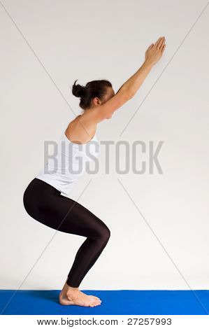 yogi girl doing exercise, 108 of 116 poster