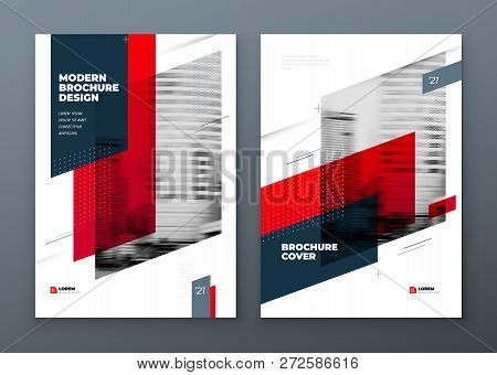 Brochure Template Layout Design. Corporate Business Annual Report, Catalog, Magazine, Flyer Mockup.