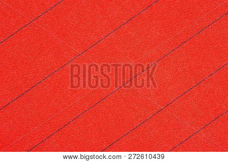 Abstract Red Fabric With Black Stripes Texture Background. Book Cover