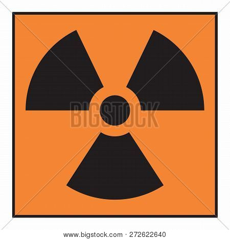 Illustration Of An Isolated Radiation Hazard Symbol