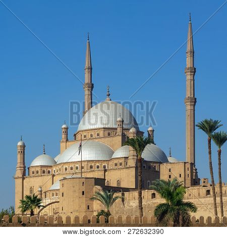 Ottoman Style Great Mosque Of Muhammad Ali Pasha (alabaster Mosque), Situated In The Citadel Of Cair
