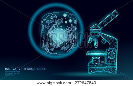 Microscope Artificial Cell Synthesis Animal Human Designer Cell Biochemistry. Engineering Gmo Resear