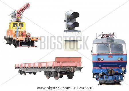 railway hardware under the white background