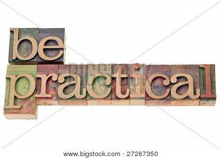 Be Practical In Letterpress Type