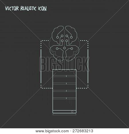 Machine To Machine Icon Line Element.  Illustration Of Machine To Machine Icon Line Isolated On Clea