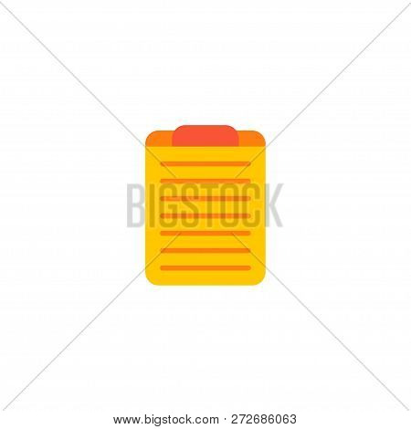 Task Board Icon Flat Element.  Illustration Of Task Board Icon Flat Isolated On Clean Background For