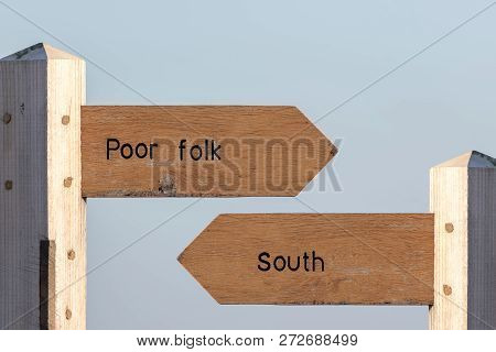 North-south Divide. Economic, Cultural And Social Division Between The North And South Uk. Standard