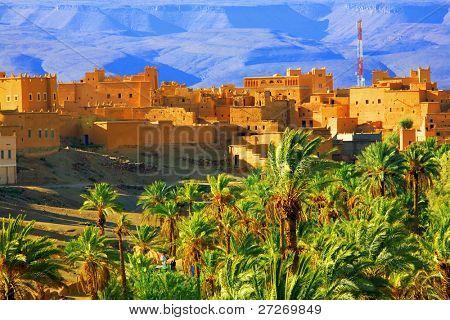 Moroccan Kasbah, Atlas Mountains, Africa poster