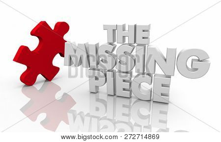 The Missing Puzzle Piece Final Solution 3d Illustration