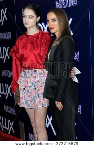 LOS ANGELES - DEC 5:  Raffey Cassidy, Natalie Portman at the