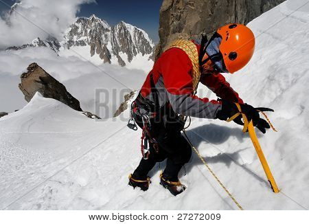 Climbing alpinist poster