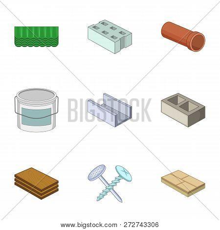 Rack Icons Set. Cartoon Set Of 9 Rack Icons For Web Isolated On White Background