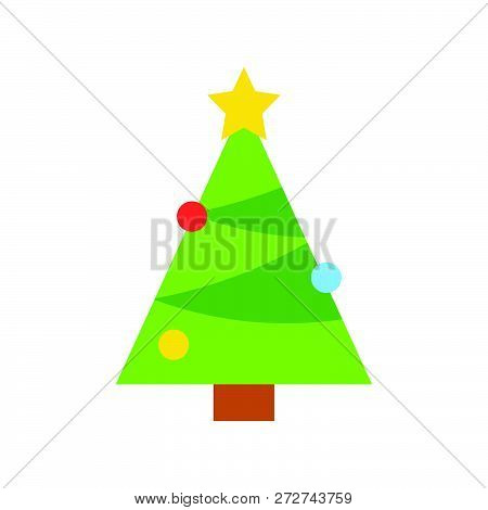 Chirstmas Tree Vector, Christmas Related Flat Design Icon