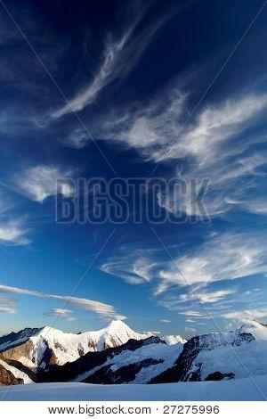 Mountain landscape, Berner Oberland, Switzerland - UNESCO Heritage poster