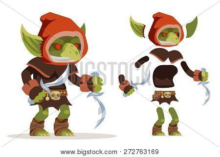 Goblin Assassin Outlaw Thief Burglar Evil Minion Dungeon Monster Fantasy Medieval Action Rpg Game Ch