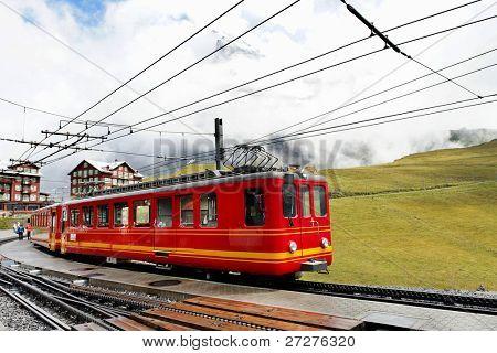 Jungfrau Bahn in Kleine Scheidegg Railwaystation, Switzerland