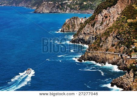 Cinque Terre on the Ligurian Coast, Italy