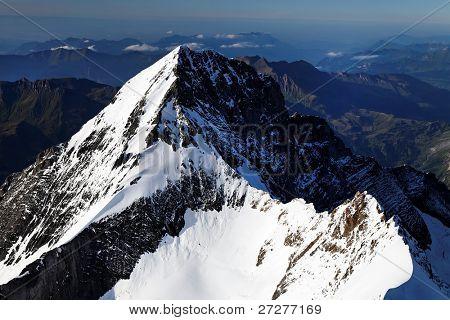 Eiger seen from Monch Peak, (4107m), Berner Oberland, Switzerland - UNESCO Heritage