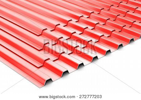 Construction Steel Profile Panel Sheets On White Background
