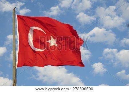 Send A Turkısh Flag In The  Turkey Zonguldak