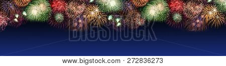 New Year's Eve Fireworks Large Copyspace Copy Space Banner Years Year Firework