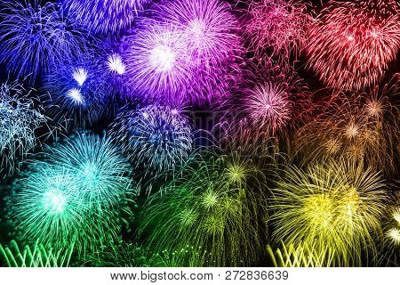 New Year's Eve Fireworks Colorful Background Years Year Firework