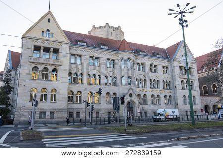 Poznan, Poland - December 05, 2018: Bank Pocztowy Sa Building . Bank Pocztowy Is A Commercial Bank I